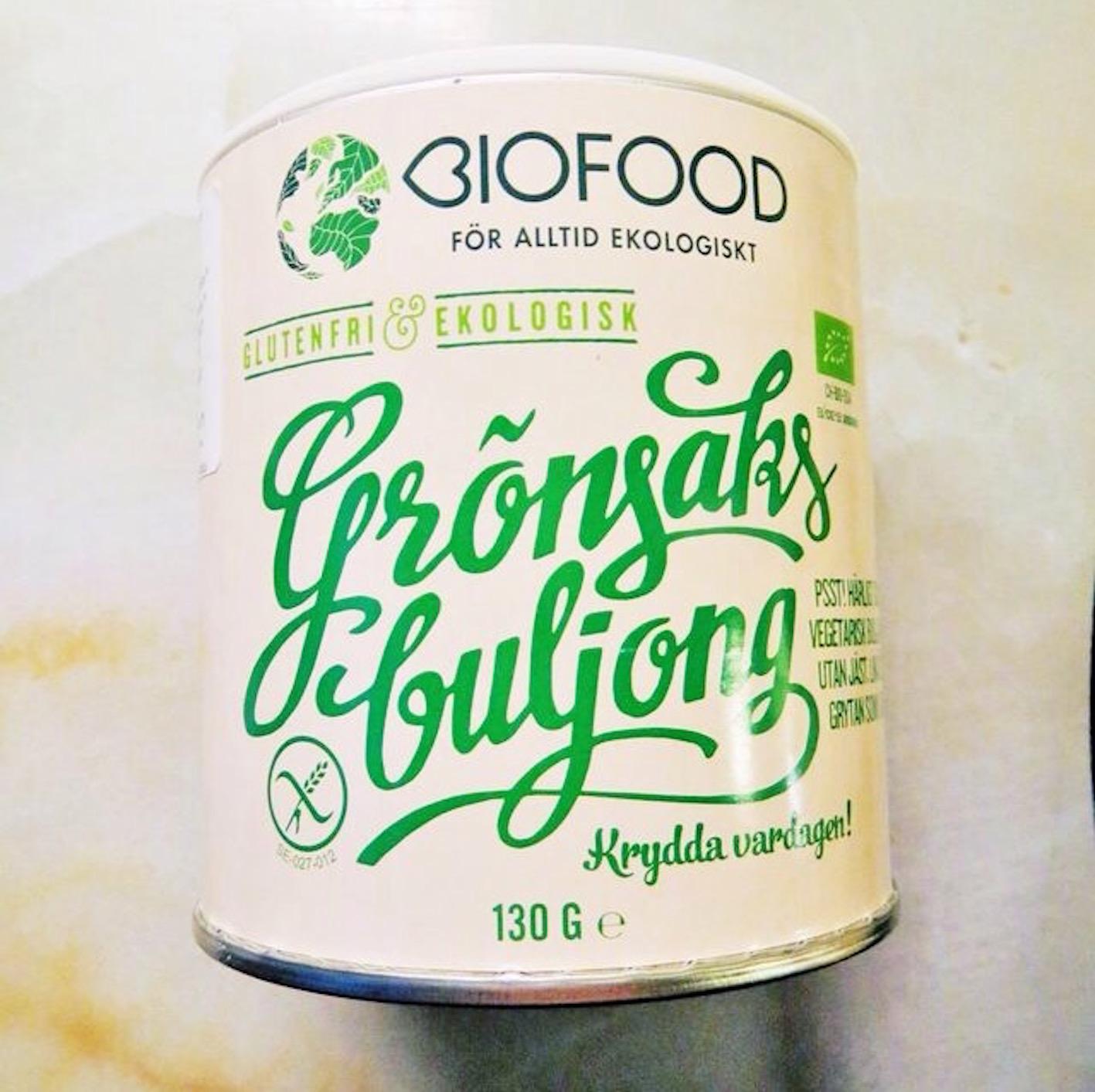 ekologisk grönsaksbuljong - biofood