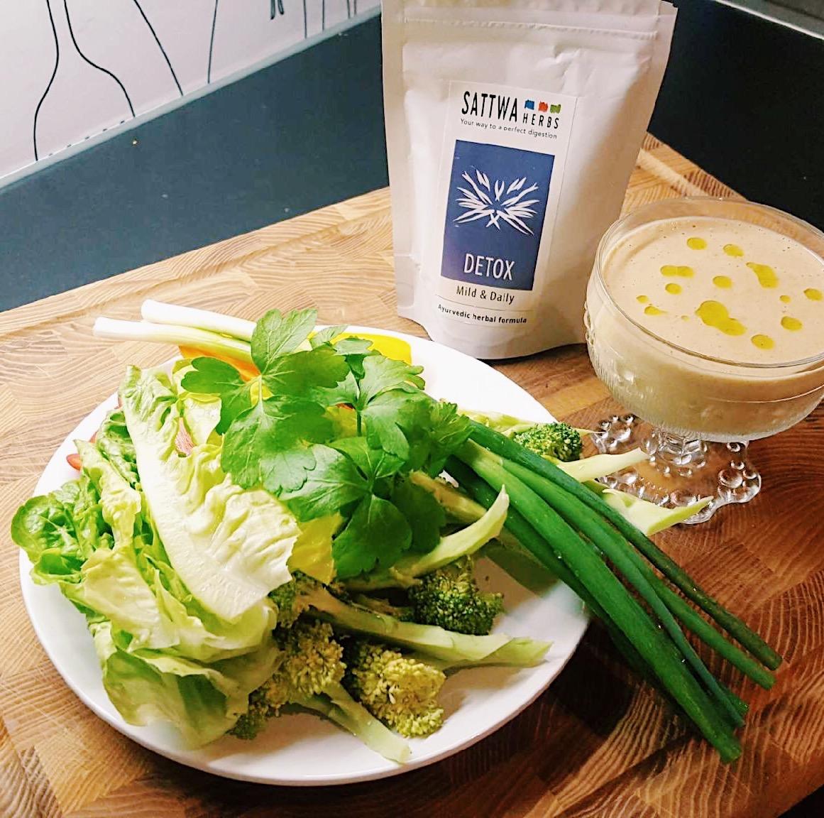 detox - sattwa herbs - sallad