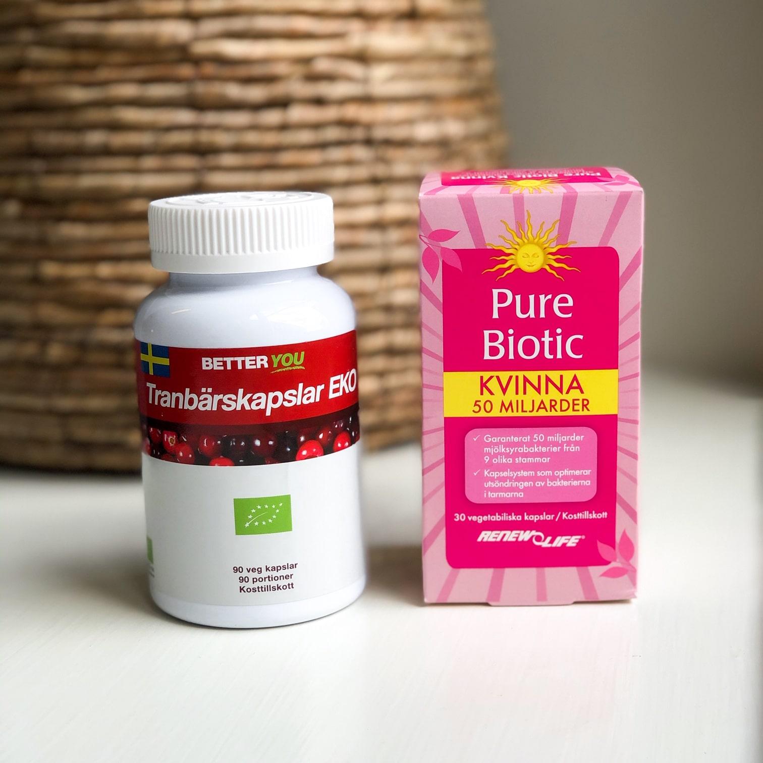 tranbärskapslar & Pure Biotic - Tossa slemhinnor